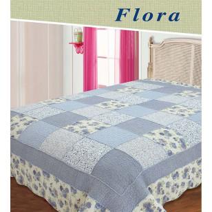 Покрывало 'Flora голубой'